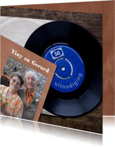 Jubileumkaarten - uitnodiging 50 elpee