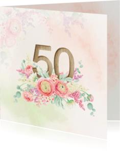 Jubileumkaarten - Uitnodiging 50-jarig jubileum