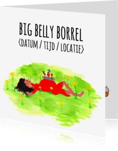 Uitnodigingen - Uitnodiging babyshower BIG BELLY BORREL CliniClowns