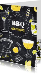 Uitnodigingen - Uitnodiging BBQ tekeningen