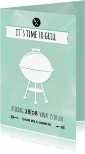 Uitnodigingen - Uitnodiging BBQ time to grill