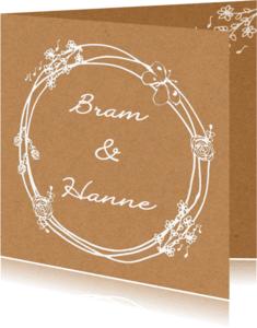 Trouwkaarten - Uitnodiging Bruiloft kraftpapier 2