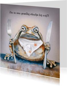 Uitnodigingen - Uitnodiging etentje met Brompad
