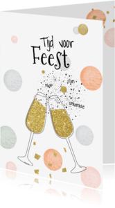 Uitnodigingen - Uitnodiging feest - confetti