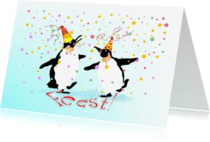 Uitnodigingen - Uitnodiging Feest Pinguins