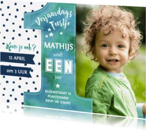 Kinderfeestjes - Uitnodiging Feestje EEN jaar
