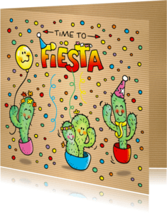 Uitnodigingen - Uitnodiging Fiësta Cactus Mexico