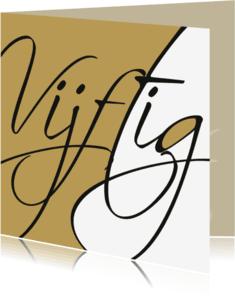Jubileumkaarten - uitnodiging gouden bruiloft