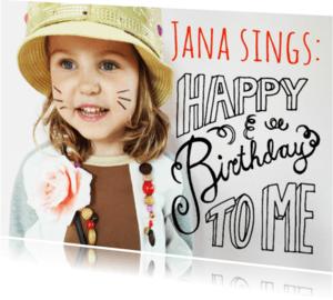 Kinderfeestjes - uitnodiging handlettering jana