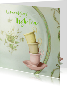 Uitnodigingen - Uitnodiging High Tea scrapbook 4 - SG