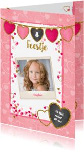 Kinderfeestjes - uitnodiging hip lief en glitter