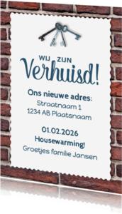 Uitnodigingen - Uitnodiging Housewarming - DH