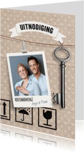 Uitnodigingen - Uitnodiging housewarming karton