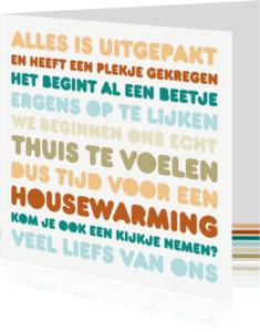 Uitnodigingen - Uitnodiging Housewarming Letters