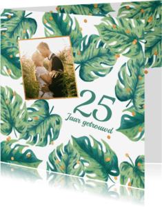 Uitnodigingen - Uitnodiging huwelijksjubileum botanical foto
