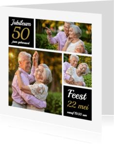 Uitnodigingen - Uitnodiging jubileum collage OT
