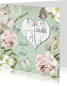 Uitnodigingen - uitnodiging jubileum trouwdag vintage