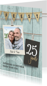 Jubileumkaarten - Uitnodiging jubileumfeest