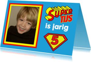 Uitnodigingen - uitnodiging kinderfeest superman