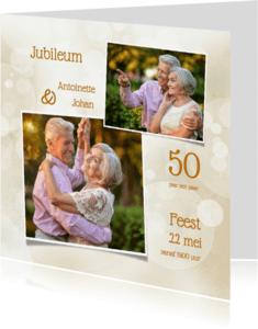 Jubileumkaarten - Uitnodiging klassiek collage SG