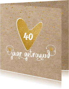 Uitnodigingen - Uitnodiging kraft confetti - LO