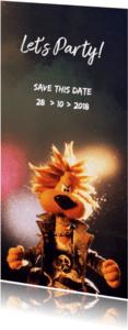 Uitnodigingen - Uitnodiging Loeki discofeest - A