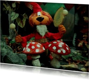 Uitnodigingen - Uitnodiging Loeki herfst bos -A