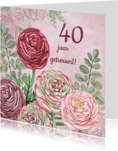 Uitnodigingen - Uitnodiging ranonkel jubileum