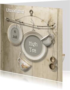 Uitnodigingen - Uitnodiging Scrapbook High Tea - SG
