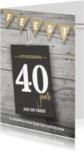 Uitnodigingen - Uitnodiging verjaardag 30 40 50 jaar