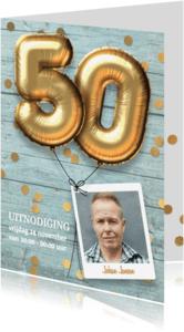 Uitnodigingen - Uitnodiging verjaardag 50 jaar