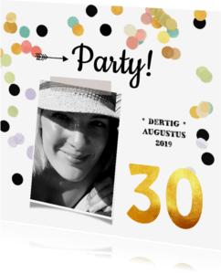 Uitnodigingen - Uitnodiging verjaardag goud 30