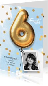 Kinderfeestjes - Uitnodiging verjaardag jongen 6 jaar