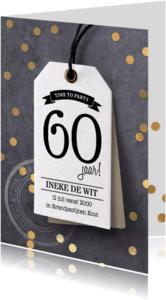 Uitnodigingen - Uitnodiging verjaardagsfeest label