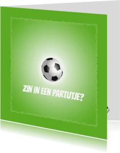Kinderfeestjes - Uitnodiging Voetbal Partijtje