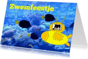 Kinderfeestjes - uitnodiging voor zwemfeestje