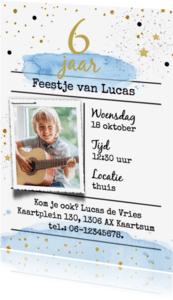 Kinderfeestjes - Uitnodiging watercolor - jongen