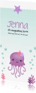 Geboortekaartjes - Under the sea Inktvis