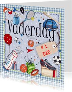 Vaderdag kaarten - Vaderdag #1 Dad sport
