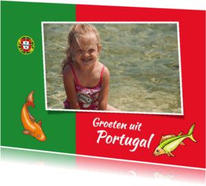 Vakantiekaarten - Vakantie - Portugeese vlag