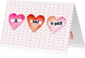 Valentijnskaarten - Valentijn hartjes tekst