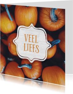 Zomaar kaarten - Veel liefs (herfst)