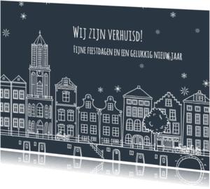 Kerstkaarten - Verhuis kerstkaart gevels - AV