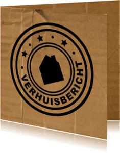 Verhuiskaarten - Verhuisbericht Karton Stempel