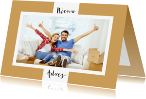 Verhuiskaarten - Verhuiskaart foto achtergrondkleur aanpasbaar - OT