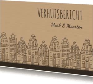 Verhuiskaarten - Verhuiskaart gevels oudhollands