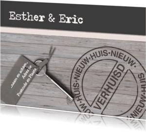 Verhuiskaarten - Verhuiskaart hout en dbruin
