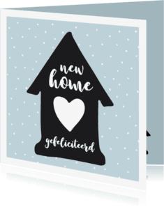 Verhuiskaarten - Verhuiskaart huisje zwart-wit