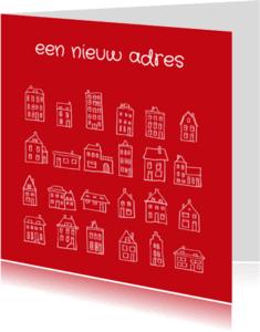 Verhuiskaarten - Verhuiskaart huisjes 3 IB