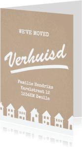 Verhuiskaarten - Verhuiskaart karton huisjes